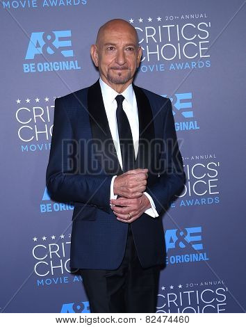 LOS ANGELES - JAN 16:  Sir Ben Kingsley arrives to the Critics' Choice Awards 2015  on January 16, 2015 in Hollywood, CA
