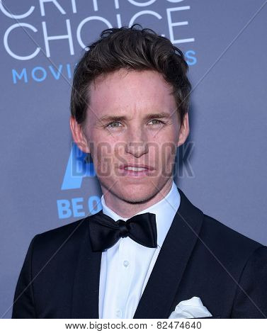 LOS ANGELES - JAN 16:  Eddie Redmayne arrives to the Critics' Choice Awards 2015  on January 16, 2015 in Hollywood, CA