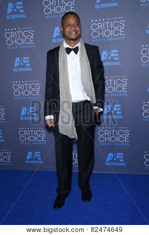 LOS ANGELES - JAN 16:  Cuba Gooding Jr.  arrives to the Critics' Choice Awards 2015  on January 16, 2015 in Hollywood, CA