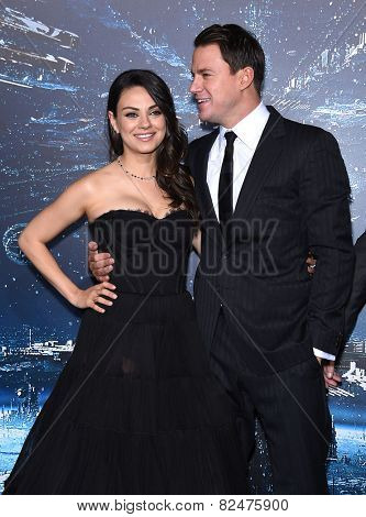 LOS ANGELES - FEB 02:  Mila Kunis & Channing Tatum arrives to the