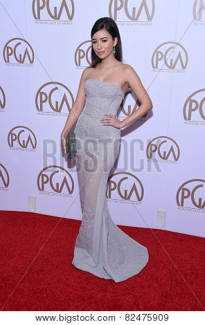 LOS ANGELES - JAN 24:  Christian Serratos arrives to the 26th Annual Producers Guild Awards  on January 24, 2015 in Century City, CA