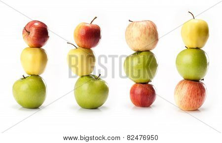 composite with different varieties of apples