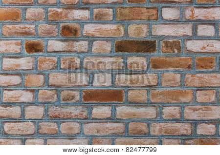 Brick Wall With English Bond Texture