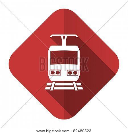 train flat icon public transport sign