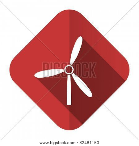windmill flat icon renewable energy sign