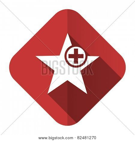 star flat icon add favourite sign