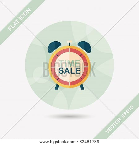 Shopping Limit Sale Flat Icon With Long Shadow,eps10