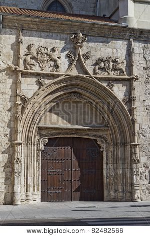 Door In The Cathedral Of Burgos, Castile And Leon, Spain