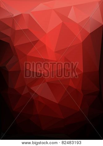 Red Black Polygonal Mosaic Background, Vector Illustration,  Creative  Business Design Templates
