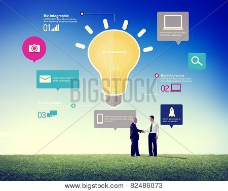 Ideas Inspiration Creativity Biz Infographic Innovation Concept