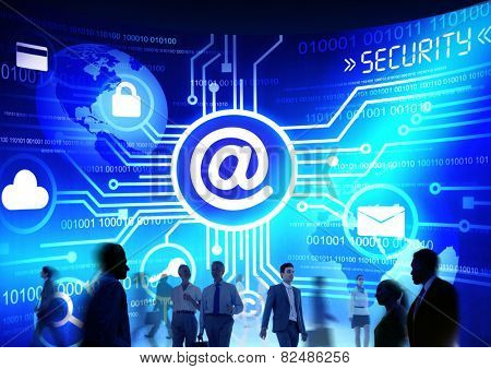 Business People Commuter Technology Security Email Messaging Concept