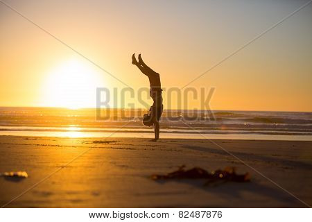 Handstand By The Beach