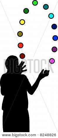 Juggler With Colorful Balls-training Brain Skills Kopie.