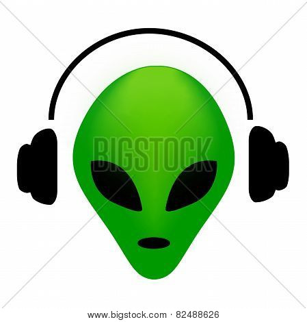 Alien With Earphones