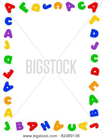 Colorful Alphabet Frame
