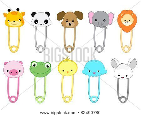 Cute Animal Safety Pins