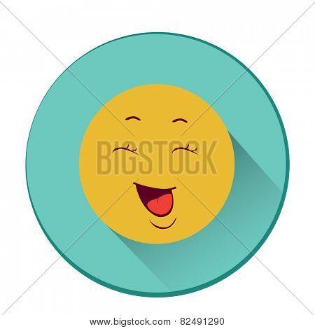 Smiley. Single flat color icon. Vector illustration