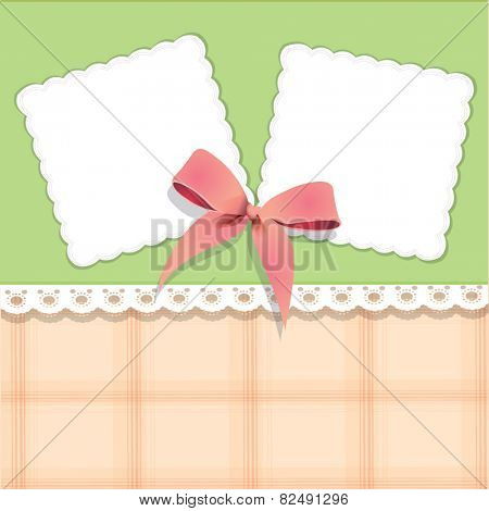 Vector beautiful card with bow