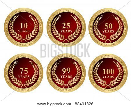 Anniversary Seals / Stamps With Text