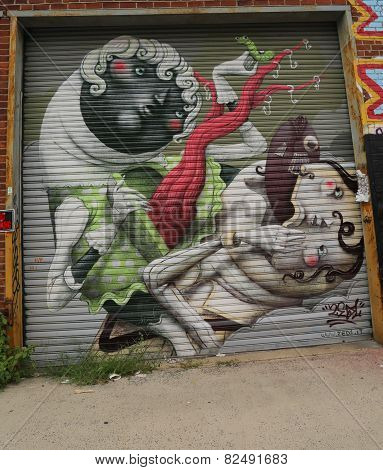 Mural art in Astoria section of Queens