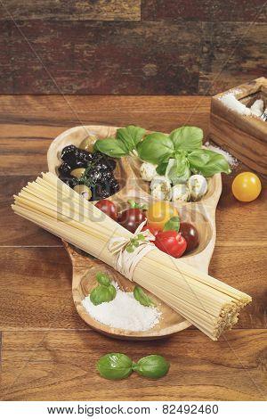 Pasta Ingredients. Ingredients for Italian Spaghetti