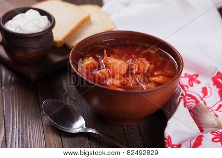 Fresh Appetizing Vegetable Soup