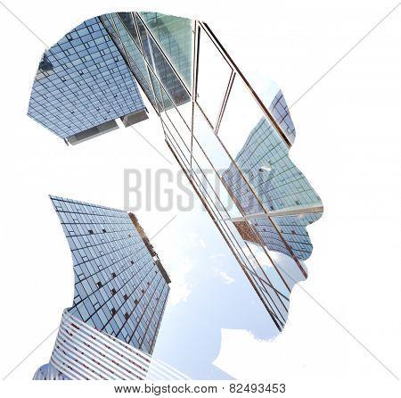 Business man building concept