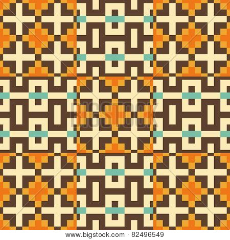 Seamless pattern. Mosaic. Template for design and decoration backgrounds, package, covers, textile. Abstract vector illustration.