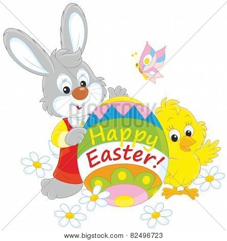 Easter Bunny and Chick