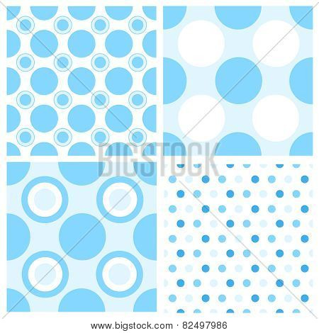 Blue Polka Pattern For Boys
