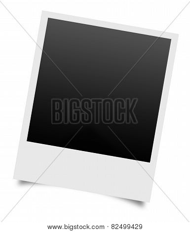 Blank Photos On A White Background