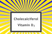 image of sunshine  - Cholecalciferol Vitamin D3 on beautiful sunshine background - JPG