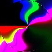 stock photo of trippy  - Abstract crazy colorful shapes as unusual background - JPG
