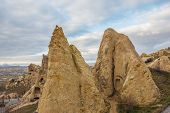 picture of goreme  - view of Cappadocia Goreme National Park in winter time  - JPG