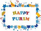 picture of purim  - Jewish holiday Purim set of elements for design - JPG