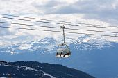 Chair Lift At Whistler Peak British Columbia;