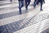 foto of zebra crossing  - Zebra crossing in Lisbon - JPG