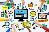foto of  media  - News Breaking News Daily News Follow Media Searching Concept - JPG