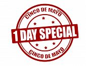 stock photo of special day  - Stamp with text one day special inside vector illustration - JPG