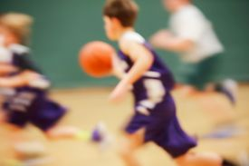 picture of possession  - Youth Basketball motion blur - JPG