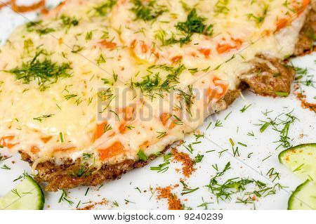 Beefsteak With Cheese, Macro