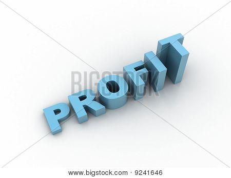 Profit - 3D Illustration