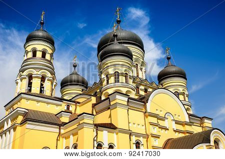 Large Christian Orthodox Church in the Hancu Monastery, Republic of Moldova