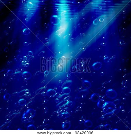 bubbles under the water, abstract background