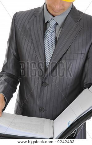 Businessman At A Construction