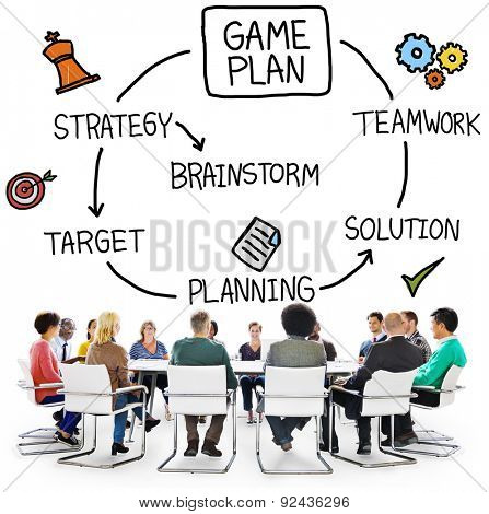 Game Plan Strategy Planning Tactic Target Concept