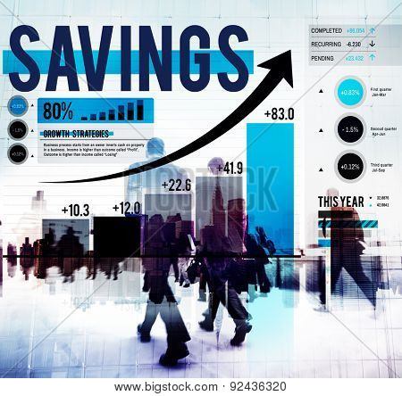 Savings Finance Gain Banking Budget Concept