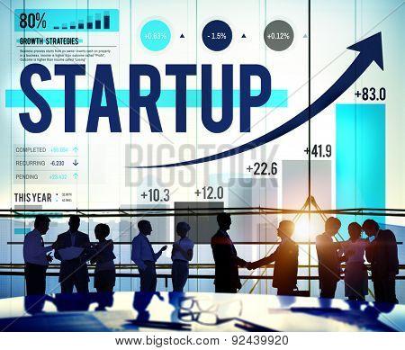 Start up Business Planning Progress Statistics Concept