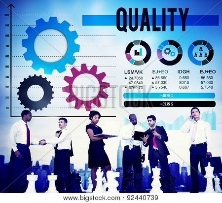 Quality Guarantee Excellence Satisfaction Rank Concept