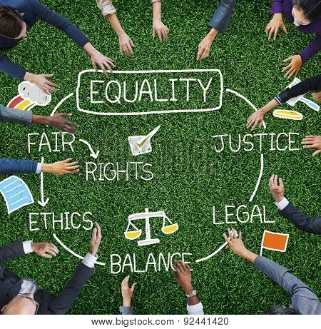 Equality Rights Balance Fair Justice Ethics Concept